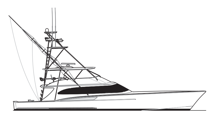 Custom sportfish yachts and service from jarrett bay boatworks for How to draw a fishing boat