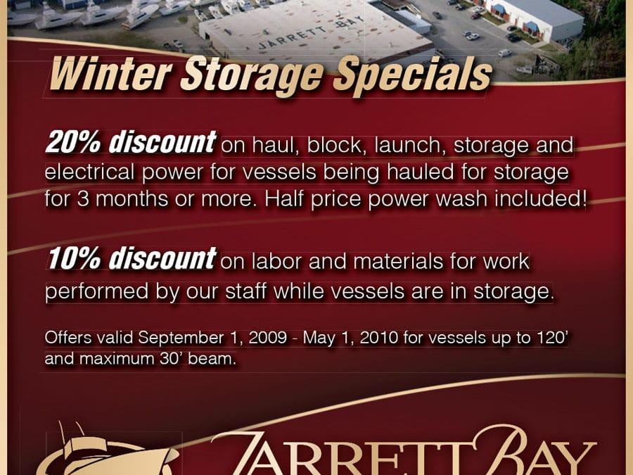 Winter Storage Specials at Jarrett Bay