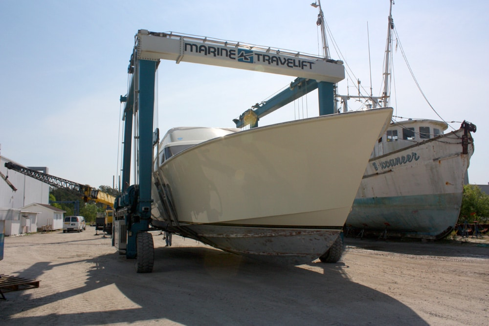 Transom Extrusion and Total Refit of a 63 Hines-Farley Sportfish