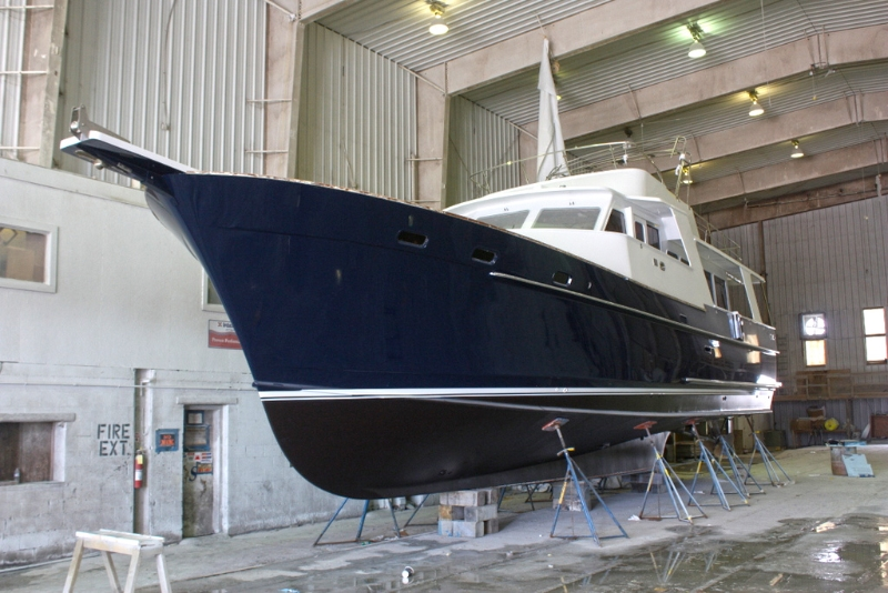 Exterior Refinishing on Gypsea, 53' Motoryacht