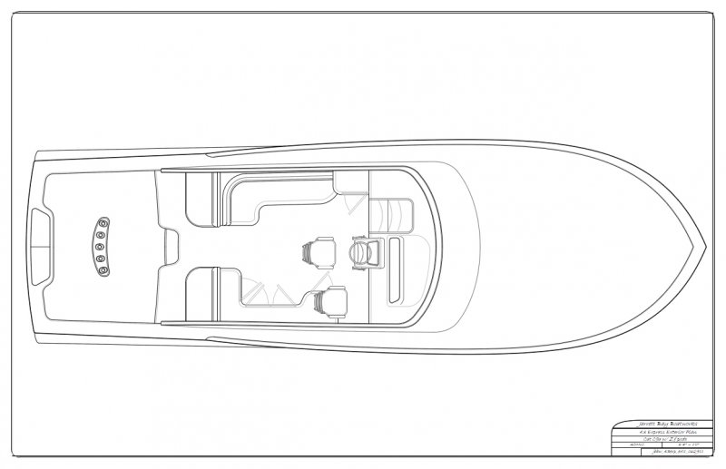 43' with pod propulsion - exterior plan 1