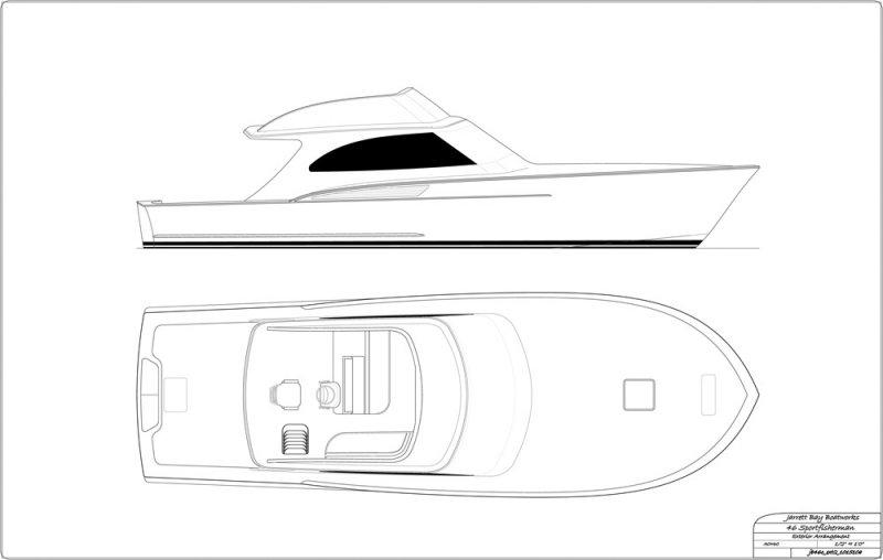 46' day boat - exterior arrangement