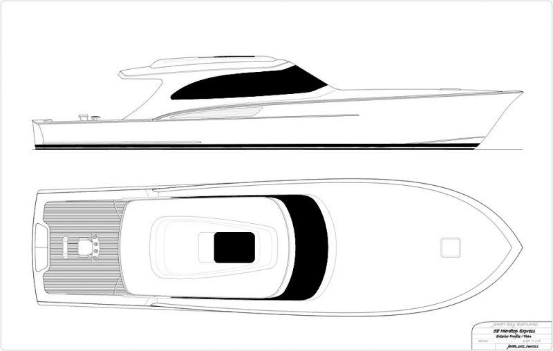 58' hardtop express concept - exterior arrangement