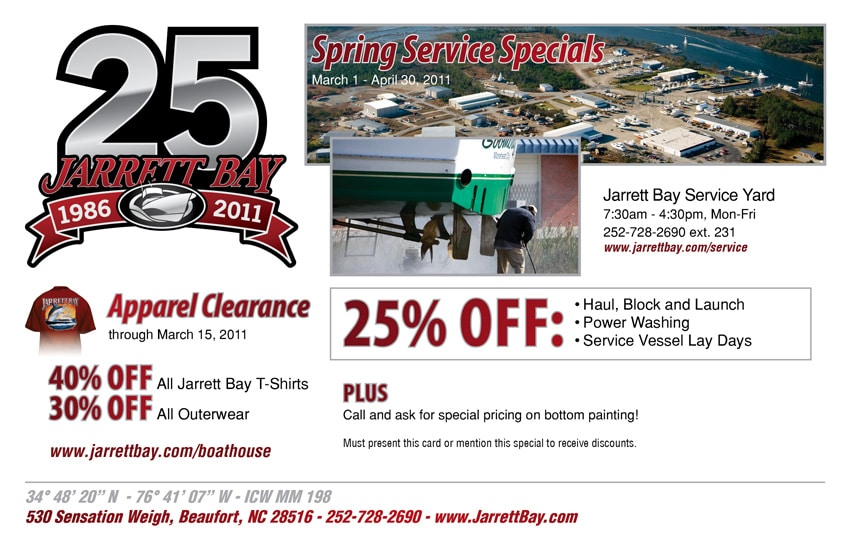 Spring Service Specials & Apparel Clearance Sale