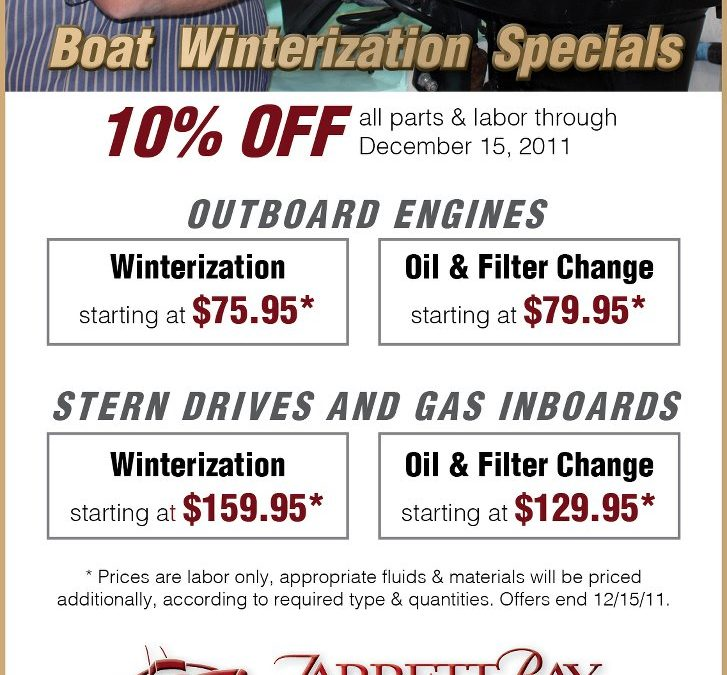 Boat Winterization Specials