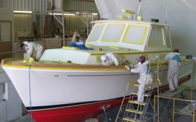 All New Paint & Refit for a Grand Banks 38