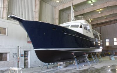 Exterior Refinishing on Gypsea, 53′ Motoryacht