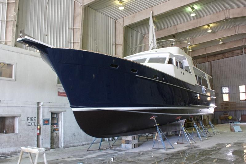 Exterior Refinishing on Gypsea, 53′ Motoryacht