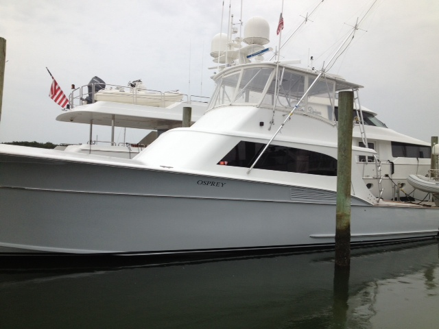 New Paint on this 59′ Taylor Harris from the Gudelsky Fleet