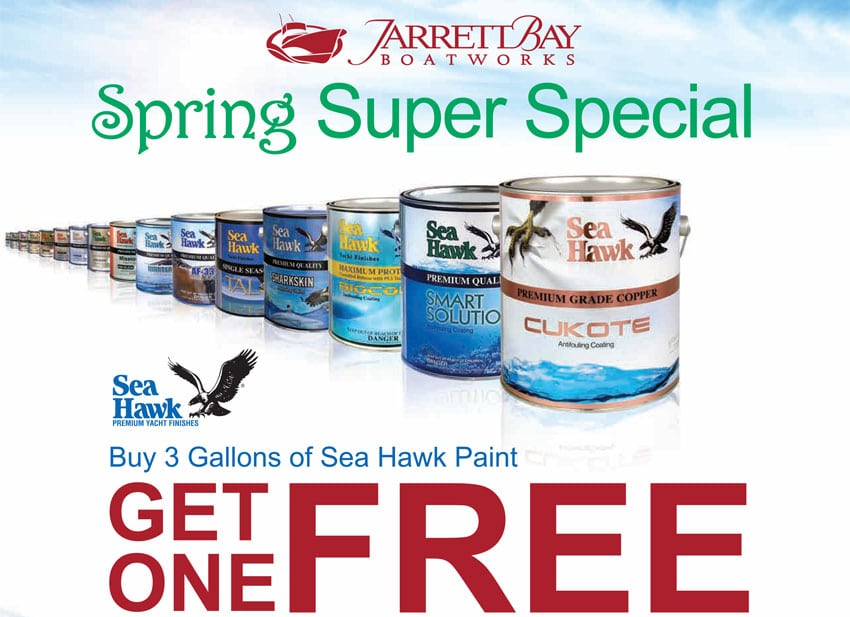 Sea Hawk Bottom Paint Spring Super Special at Jarrett Bay