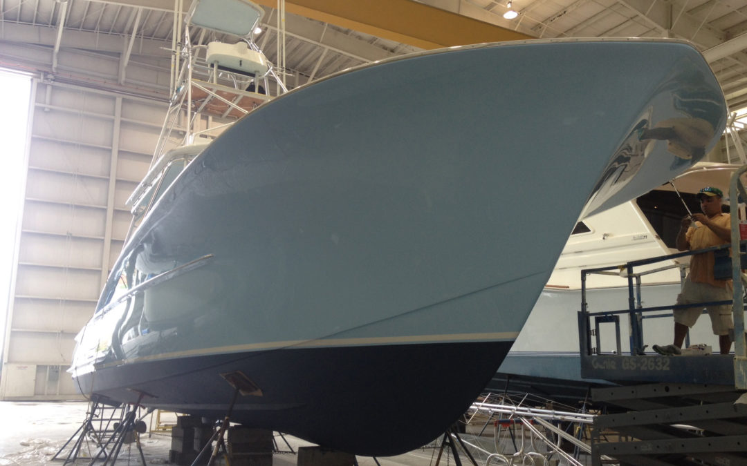 New Alexseal Topcoat for This 42′ Gillikin Sportfish