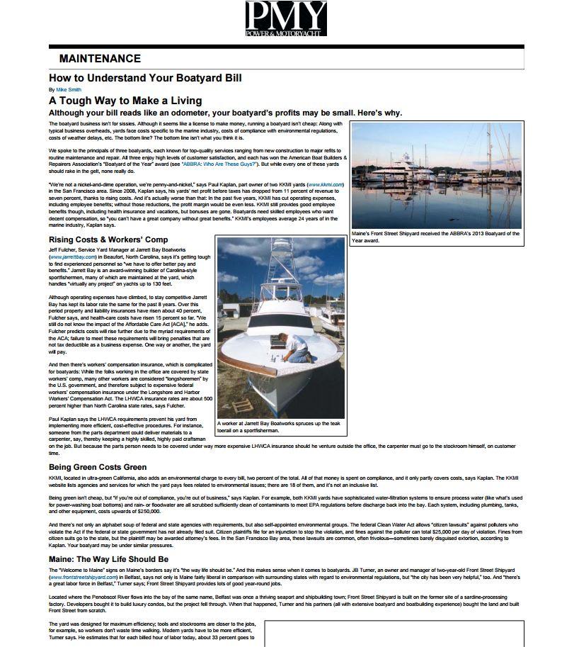 boatyard bill