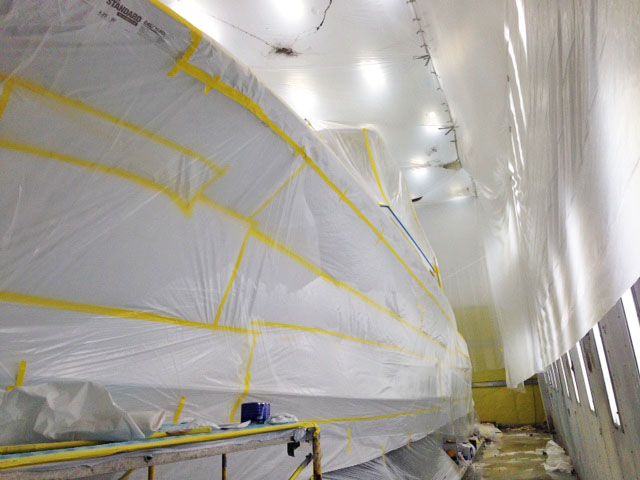 Coverage paint booth