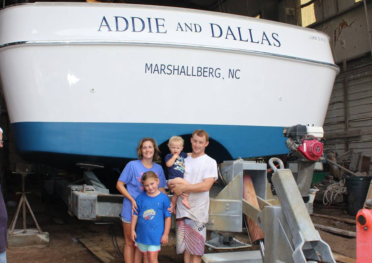 Davis family with Addie and Dallas