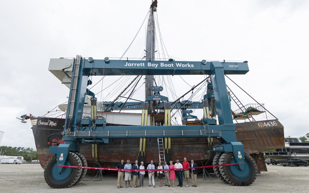 Jarrett Bay 300-ton Marine Travelift Officially Put Into Action